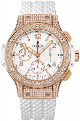 Đồng hồ nữ Hublot Big Bang Gold White Pave Chronograph 41mm – 341.pe.2010.rw.1704