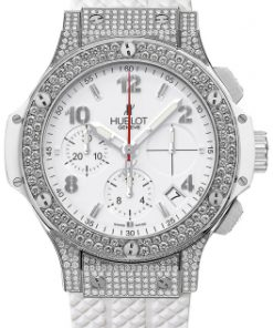 Đồng hồ nữ Hublot Big Bang Steel White Diamond Chronograph 41mm Ladies Watch 342.se.230.rw.174
