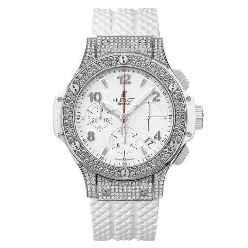 Đồng hồ nữ Hublot Big Bang Steel White Diamond Chronograph 41mm Ladies Watch 342.se.230.rw.174 1