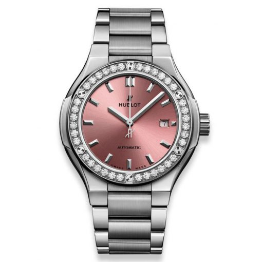 Đánh giá đồng hồ Hublot Classic fusion Titanium Pink 33mm