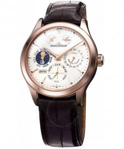 JAEGER LECOULTRE Q1612420 Master Eight Days Beige Dial Perpetual Calendar 18kt Rose Gold Men's Watch