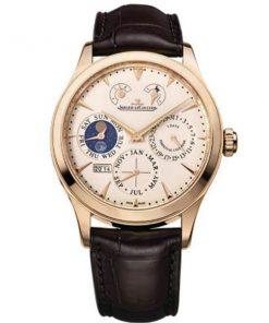 JAEGER LECOULTRE Q1612520 Master Control Beige Dial 18K Pink Gold Men's Watch