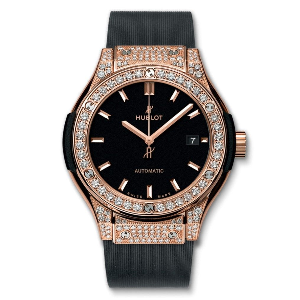 Đồng hồ nữ Hublot Classic Fusion King Gold Pave 33 mm – 582.OX.1180.RX.1704
