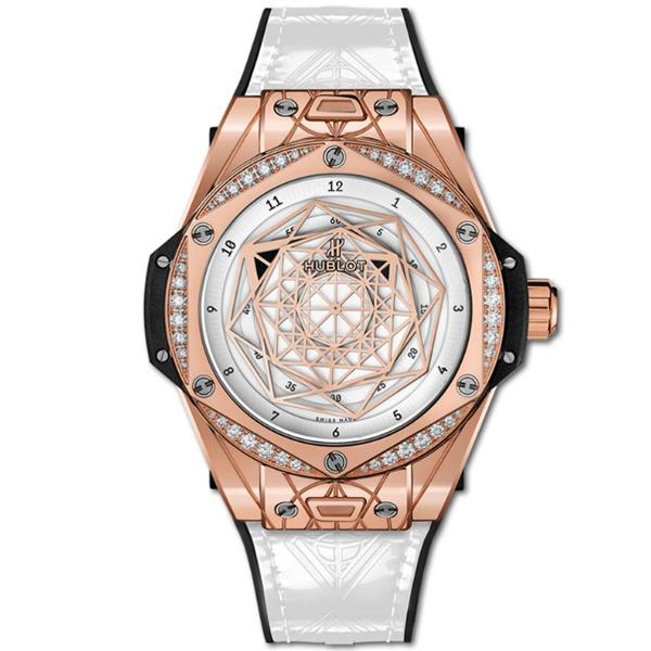 Đồng hồ nữ Hublot Big Bang One Click Sang Bleu King Gold White Diamonds 465.OS.2028.VR.1204.MXM19