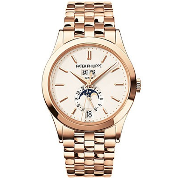 PATEK PHILIPPE Annual Calendar Silver Dial 18kt Rose Gold Men's Watch | Đức  Tín Luxury