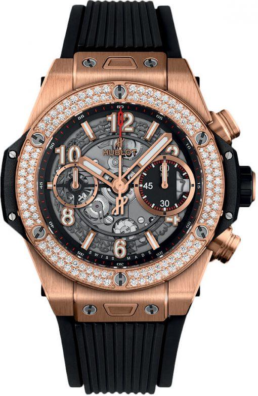 Đồng hồ Hublot Big Bang Unico King Gold Diamonds 42 mm - 441.OX.1180.RX.1104