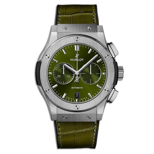 Đức tín luxury - Đồng hô Hublot Classic Fusion Chronograph Titanium Green 42 mm - 541.NX.8970.LR