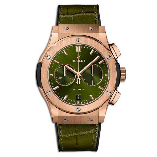 Đức tín luxury - Đồng hồ Hublot Classic Fusion Chronograph King Gold Greens 42 mm - 541.OX.8980.LR
