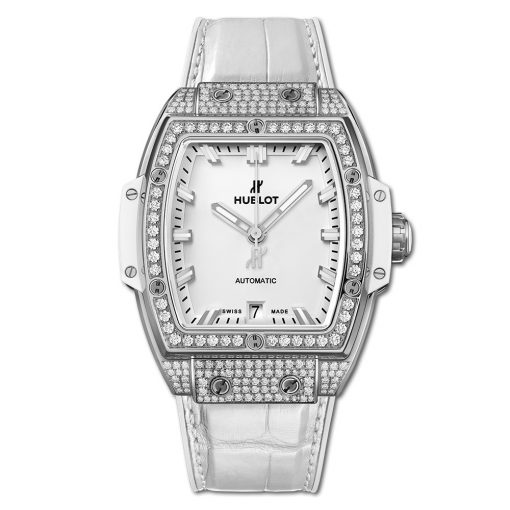 Đức tín luxury - Đồng hồ Hublot Spirit Of Big Bang Titanium White Pave 39 mm - 665.NE.2010.LR.1604