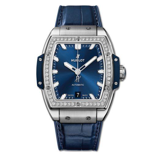 Đức tín luxury - Đồng hồ Hublot Spirit Of Big Bang Titanium Blue Diamonds - 665.NX.7170.LR.1204