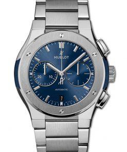 Đồng hồ Hublot Classic Fusion Chronograph Titanium Blue Bracelet 42mm 540.NX.7170.NX