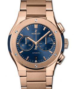 Đồng hồ Hublot Classic Fusion Chronograph King Gold Blue Bracelet 42mm 540.OX.7180.OX