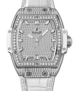 Đồng hồ Hublot Spirit Of  Big BangTitanium White Full Pavé 39Mm 665.NE.9010.LR.1604