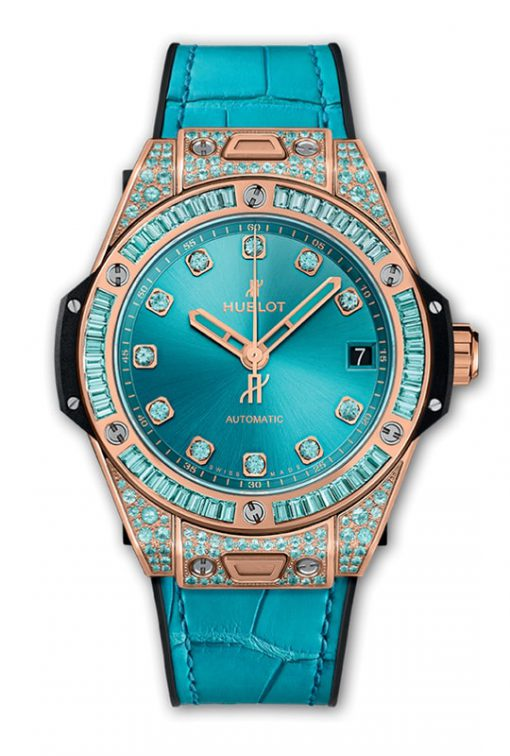 Hublot Big Bang One Click King Gold Paraiba 39 mm 465.OX.898T.LR.0919