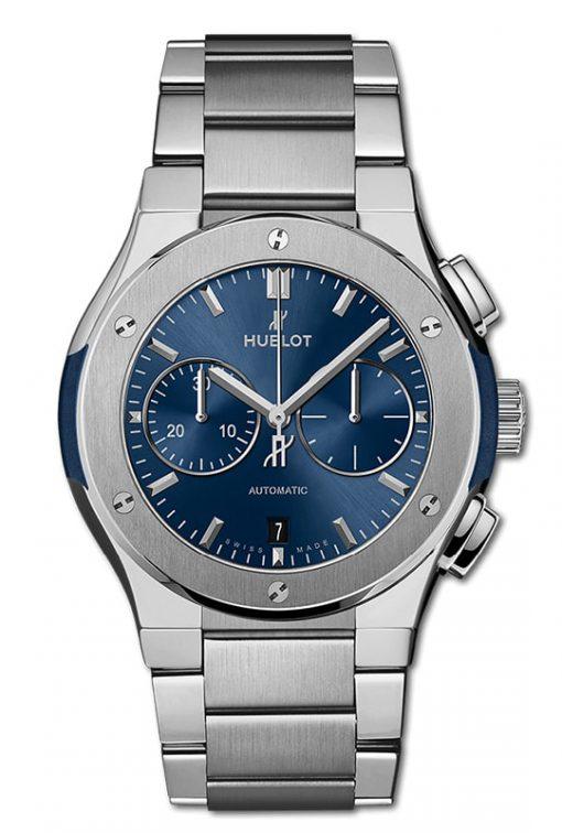 Hublot Classic Fusion Chronograph Titanium Blue Bracelet 42mm 540.NX.7170.NX