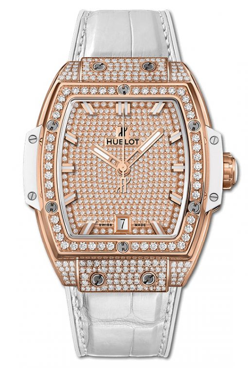 Hublot Spirit Of Big Bang King Gold White Full Pavé 39mm 665.OE.9010.LR.1604
