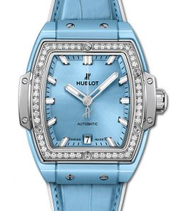 Hublot Spirit Of Big Bang Light Blue Ceramic Titanium Diamonds 39mm 665.EN.891L.LR