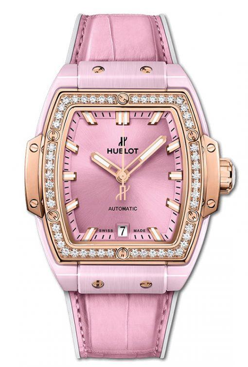 Hublot Spirit Of Big Bang Pink Ceramic King Gold Diamonds