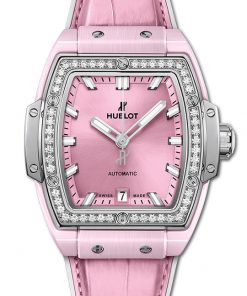 Hublot Spirit Of Big Bang Pink Ceramic Titanium Diamonds 39mm 665.RN.891P.LR