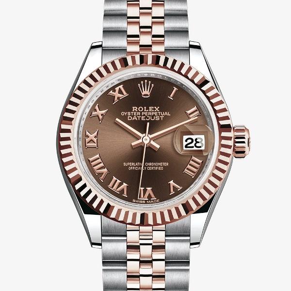 Rolex Lady Datejust 279171 ấn tượng với mặt số nâu chocolate