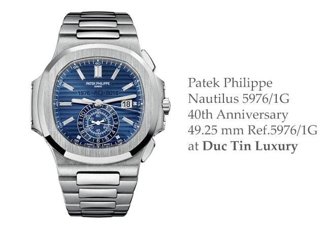 Đồng hồ nam Patek Philippe Nautilus 5976/1G 40th Anniversary 49.25 mm Ref.5976/1G