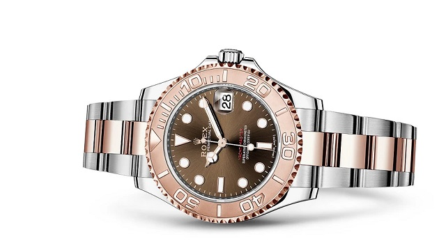 Yacht Master 37 Chocolate Dial Steel and Everose Gold Oyster Bracelet Watch
