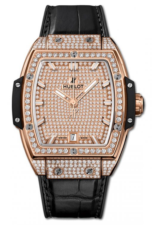 Đồng hồ Hublot Spirit Of Big Bangking Gold Full Pavé 39mm 665.OX.9010.LR.1604