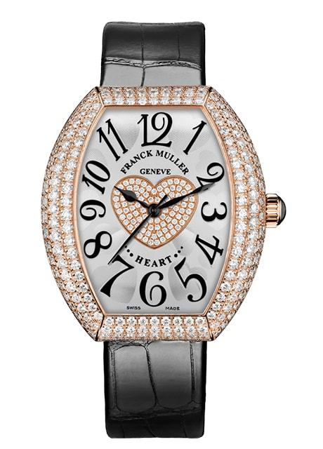 Đồng hồ Franck Muller nữ Heart watch 5000 H SC D3 1P 5N phiên bản đen trang nhã