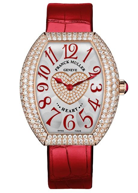 Đồng hồ Franck Muller nữ Heart watch 5000 H SC D3 1P 5N phiên bản đỏ quyến rũ