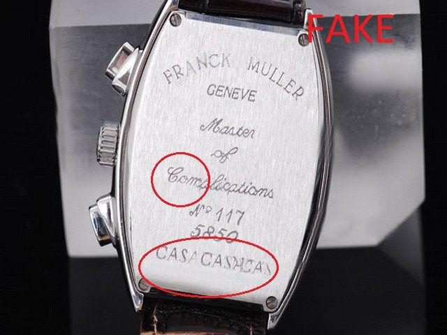 Đánh giá chất lượng để phân biệt Franck Muller fake - chính hãng