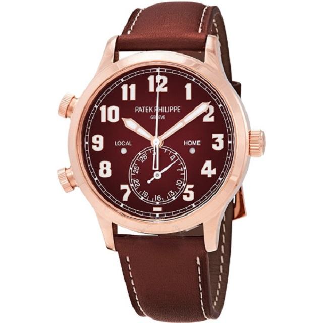 Đồng hồ nam Patek Philippe Calatrava Pilot Travel Time 18kt Rose Gold Automatic Men's Watch (Giá tham khảo: 1,045 triệu VNĐ)