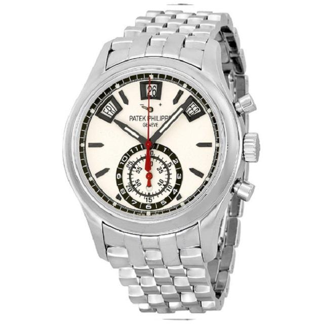 Đồng hồ nam Patek Philippe Grand Complications Chronograph Silver Dial Stainless Steel Men's Watch (Giá tham khảo: 1,015 triệu VNĐ)