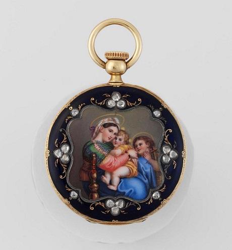 Mẫu đồng hồ bỏ túi La Madonna Della Sedia năm 1850