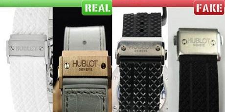 Phân biệt đồng hồ Hublot fake qua dây đeo
