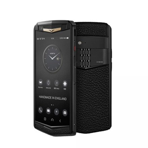 Điện thoại Vertu ASTER P Ti Black Gold Calf Jade Black