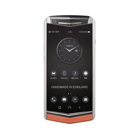 Điện thoại Vertu ASTER P Ti Silver Calf Dawning Orange