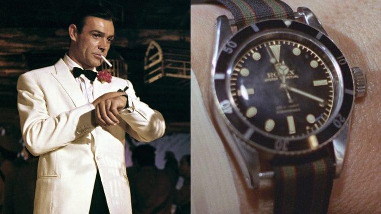 Niềm yêu thích với Rolex Submariner 6538 đã được Sean Connery thể hiện xuyên suốt cả bộ phim James Bond 007